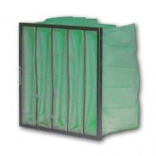"12x24x24"" (287x592x596mm) 6 pocket 24"" Deep M6 (F6) Grade Synthetic Bag Filter"